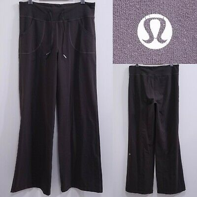 $ CDN34.89 • Buy Lululemon STILL Brown Yoga Leggings Size 8 Medium Lounge Draw String 33  Inseam