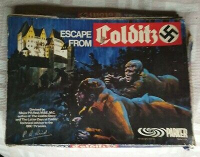 Escape From Colditz Board Game, Parker - Vintage 1970's • 19.99£