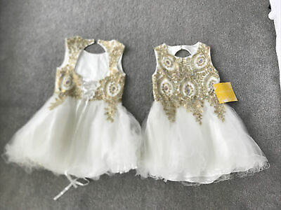 Girls Designer Dress Petite Adele Wedding Pagents Party RRP£150 BNWT • 65£