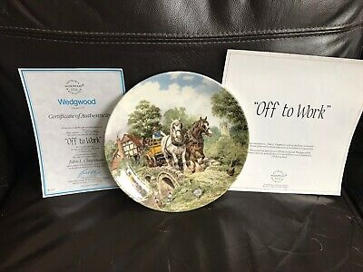 £5.50 • Buy Wedgewood Life On The Farm  Off To Work  Plate By John L Chapman With COA