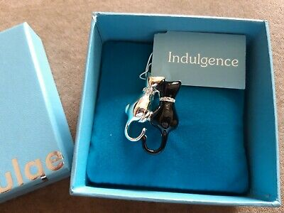 Indulgence Pair Of Black & Silver Coloured Cats Brooch • 3.50£
