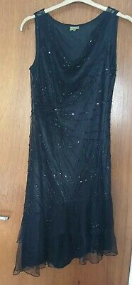 Beaded 1920's 1930's Evening / Flapper Dress Peaky Blinders Party 12 - 14 New • 4£