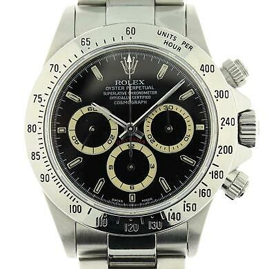 $ CDN38270.64 • Buy 16520 Rolex Daytona Zenith Stainless Steel Watch W/ Black Patrizzi Dial U Series