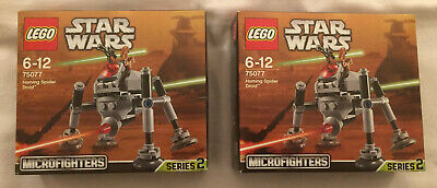 2015 LEGO Star Wars 75077 Homing Spider Droid Microfighter * 2 BNIB Sealed • 35£