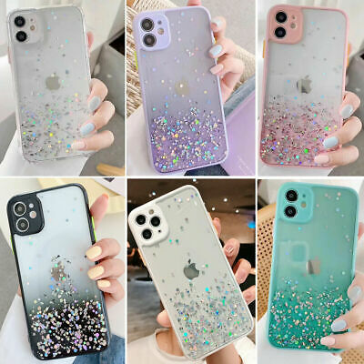 AU9.49 • Buy For Girls Glitter Marble Case For Iphone 12 11 Pro Max 7 8 Plus XS Max XR Cover
