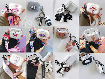 $ CDN12.75 • Buy Cute Bear Apple AirPods 1,2/Pro Case 3D Protective Cover Case With Pendant Gift