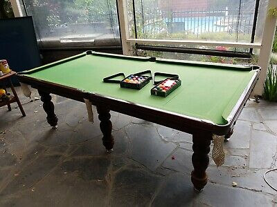 AU350 • Buy 8ft X 4ft Slate Pool Snooker Table Brand Prestige Billiards And Cue Stand