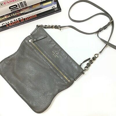 $ CDN51.02 • Buy Kate Spade Crossbody Gray Cobble Hill Ellen Bag Leather Front Zip Purse Women's