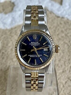 $ CDN1768.06 • Buy RolexOyster Perpetual Datejust Ladies 6517 Circa 1970 Blue Refinished Dial
