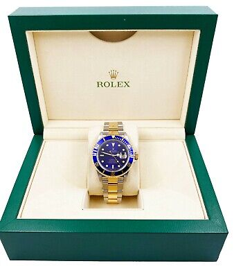 $ CDN13254.14 • Buy Rolex Submariner 16613 Blue Dial 18K Yellow Gold Stainless Steel Mint Condition