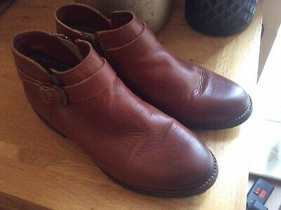 Clarks Tan Leather Short Ankle Boots Size 6D • 22£