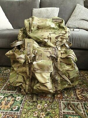 New British Army Bergen MTP IRR Camo Long Convoluted Back With Side Pouches.  • 70£
