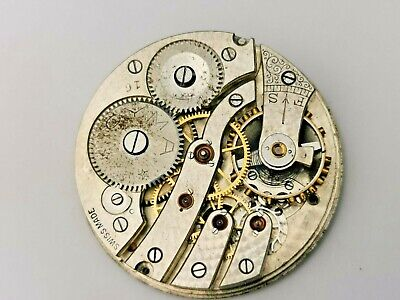 Nice Vintage Cyma Pocket Watch Movement For Repair / Parts, Good Dial / Hands • 19.99£