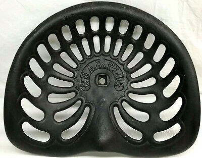 CHAMPION 731 Tractor Seat - Very Nice Heavy Cast Iron - Antique (or Recast?) • 36.71£