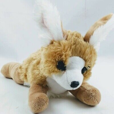 WILDLIFE ARTISTS Fennec Fox Plush Realistic Tan & White Soft Stuffed Animal • 11.01£