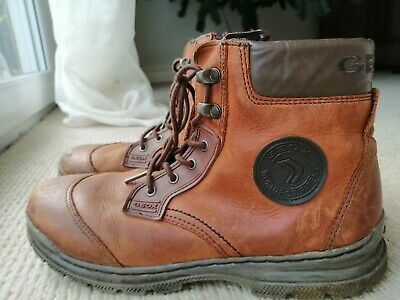 Geox Boys Tan Leather Boots Size 39 • 15£