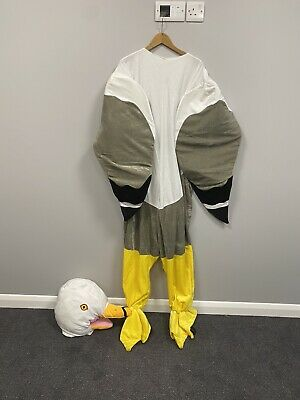 Adults Seagull Mascot Costume - One Size Cosplay, Fancy Dress, Animal, Bird • 60£