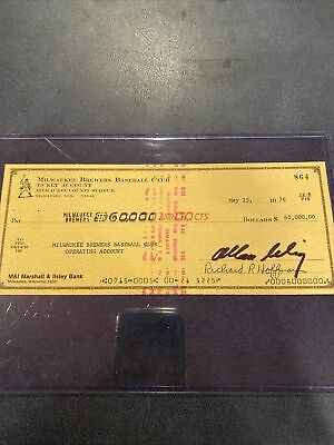 $ CDN114.83 • Buy Cooperstown Hall Of Fame Bud Selig Autographed Check