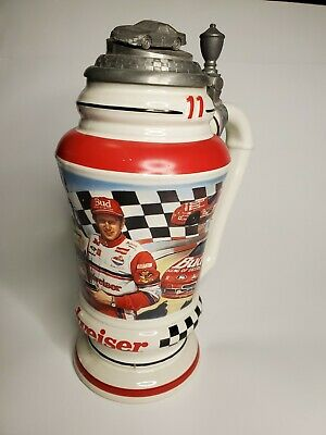 $ CDN48.39 • Buy 1993 Budweiser BILL ELLIOT RACING Limited Edition Pewter Lidded Beer Stein HTF