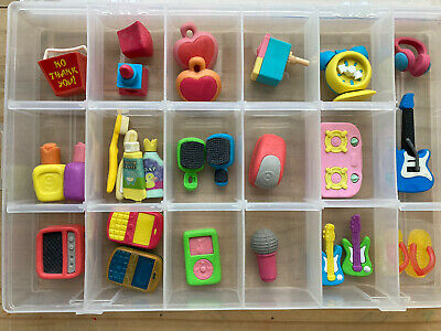Vintage Erasers Rubbers - Selection Of Cute Novelty Erasers - Case Not Included • 6£