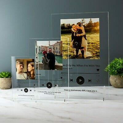 AU16.06 • Buy Spotify Music Plaque Favourite Song Personalised Music Printed Soundwave Gift