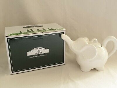 White Elephant Teapot By La Porcellana 9x6 Inch With Box • 19.99£