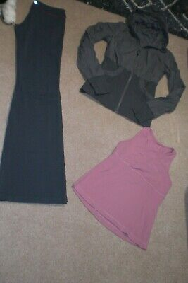$ CDN85 • Buy  Lot Of Rare Lululemon Groove Pants, Reverse Dance Studio Jacket And Tank Sz 6