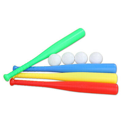 $10.89 • Buy 4 Sets Plastic Chindren Baseball Bat With Baseball Toy For Outdoor Sport