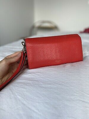 AU40 • Buy OROTON Avalon Clutch 2 Piece Wallet And Pouch Leather - Red
