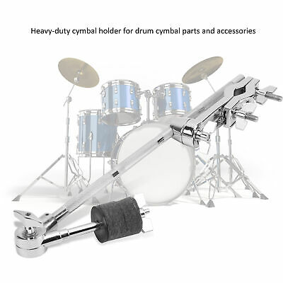 Drum Kit Extension Clamps Adjustable With Felt Pad Percussion Accessories Silver • 26.47£