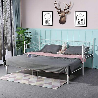 £88.88 • Buy Day Bed With Pull Out Trundle Bed Single Bed Double Bed Guest Bed Sofa Bed