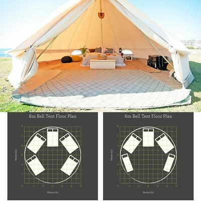 AU850 • Buy UNISTRENGH 6M Canvas Bell Tent Waterproof Glamping Camping Family Tent Yurt Tipi