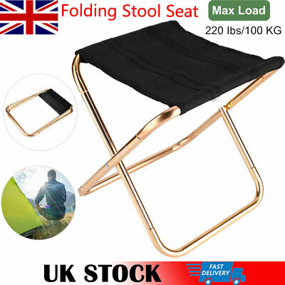 Lightweight Folding Stool Seat Chair Aluminum Alloy For Hiking Fishing Camping • 14.77£