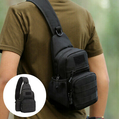 $15.99 • Buy Tactical Sling Bag Pack Small EDC Molle Assault Military Army Shoulder Backpack