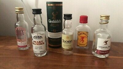 Small Empty Alcohol Bottles Upcycle DIY Gin Whiskey Etc 5cl Pay Postage Once • 1.98£