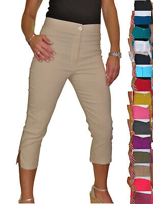 £14.99 • Buy Ladies High Waist Skinny Stretch Pedal Pushers Cropped Trousers 8-22