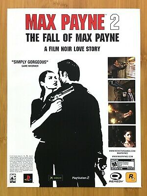 Max Payne 2 The Fall Of Max Payne PS2 Xbox 2004 Print Ad/Poster Official Art • 13.21£