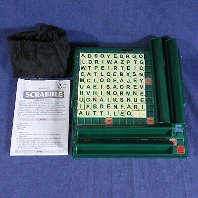 Travel Scrabble In A Solid Green Box With 4 Racks (m18) • 8.75£