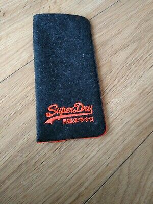 SUPERDRY Designer Spectacle Glasses Sunglasses Case - BRAND NEW, Slim Soft Pouch • 4.20£