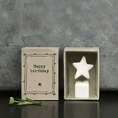 £5.95 • Buy East Of India White Porcelain STAR In Vintage Matchbox HAPPY BIRTHDAY New 2021