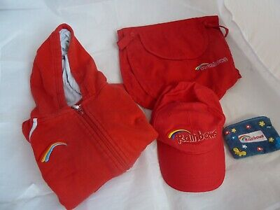 Rainbows Bundle Official Uniform: Hoodie, Baseball Cap, Bib, Purse - Size Medium • 13.50£