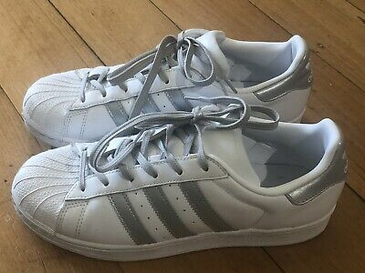 AU49 • Buy Adidas Superstar White And Silver US Size 8