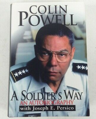Colin Powell Signed Autobiography A Soldiers Way Hardback Book With Photos #442 • 9.99£