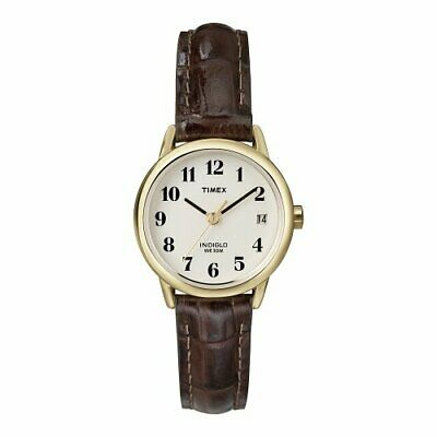 Timex Women's Easy Reader 25 Mm Leather Strap Watch T20071 • 49.99£