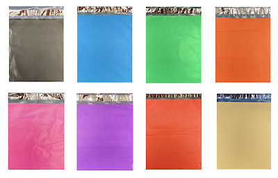 $9.80 • Buy 1-1,000 Colored Poly Mailers RED GREEN PINK BLUE BLACK ORANGE YELLOW PURPLE BAGS