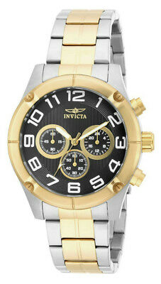 Invicta Specialty 15370 Men's Round Black Chronograph Analog Gold Tone Watch • 11.34£