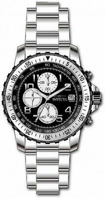 Invicta Specialty 6000 Men's Round Black Analog Chronograph Date Stainless Watch • 17.92£