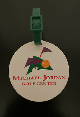 $10 • Buy Michael Jordan Golf Center Golf Bag Tag Vintage Aurora IL Michael Jordan Drive