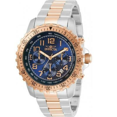 Invicta Specialty 30794 Men's Blue Dial Two-Tone Chronograph Tachymeter Watch • 27.88£
