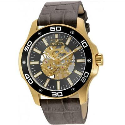 Invicta Specialty 17261 Men's Mechanical Gold Tone Analog Taupe Leather Watch • 32.92£